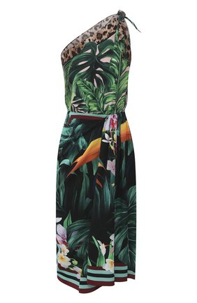 Женское шелковое платье DOLCE & GABBANA разноцветного цвета, арт. F6I2RT/GDU81 | Фото 1