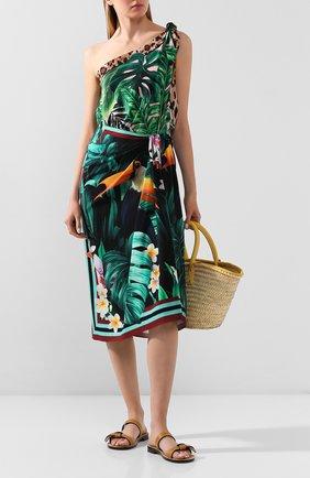 Женское шелковое платье DOLCE & GABBANA разноцветного цвета, арт. F6I2RT/GDU81 | Фото 2