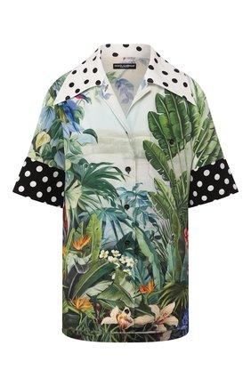 Женская шелковая рубашка DOLCE & GABBANA разноцветного цвета, арт. F5N17T/GDV32 | Фото 1