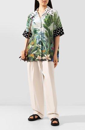 Женская шелковая рубашка DOLCE & GABBANA разноцветного цвета, арт. F5N17T/GDV32 | Фото 2