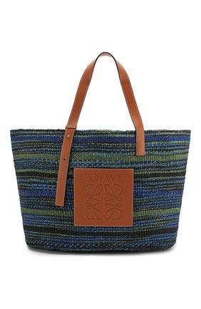 Женская сумка basket large loewe x paula's ibiza LOEWE синего цвета, арт. A657T89X01 | Фото 1