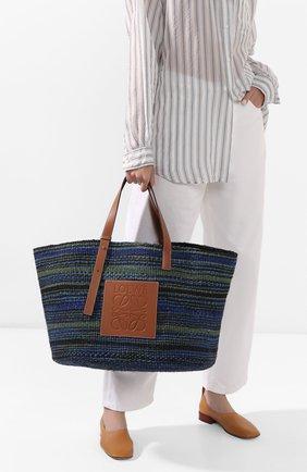 Женская сумка basket large loewe x paula's ibiza LOEWE синего цвета, арт. A657T89X01 | Фото 2