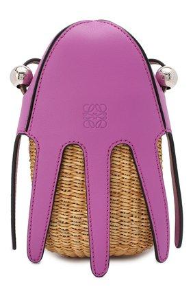 Женская сумка square basket loewe x paula's ibiza LOEWE фуксия цвета, арт. A623093X01   Фото 1