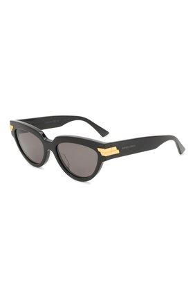 Мужские солнцезащитные очки BOTTEGA VENETA черного цвета, арт. BV1035S | Фото 1