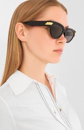 Мужские солнцезащитные очки BOTTEGA VENETA черного цвета, арт. BV1035S | Фото 2