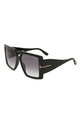 Мужские солнцезащитные очки TOM FORD черного цвета, арт. TF790 | Фото 1
