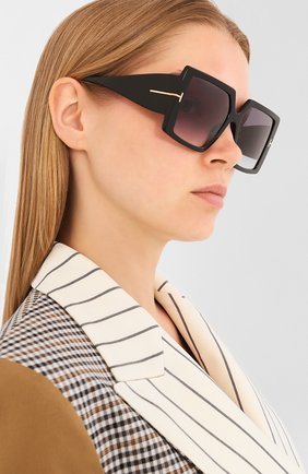 Мужские солнцезащитные очки TOM FORD черного цвета, арт. TF790 | Фото 2