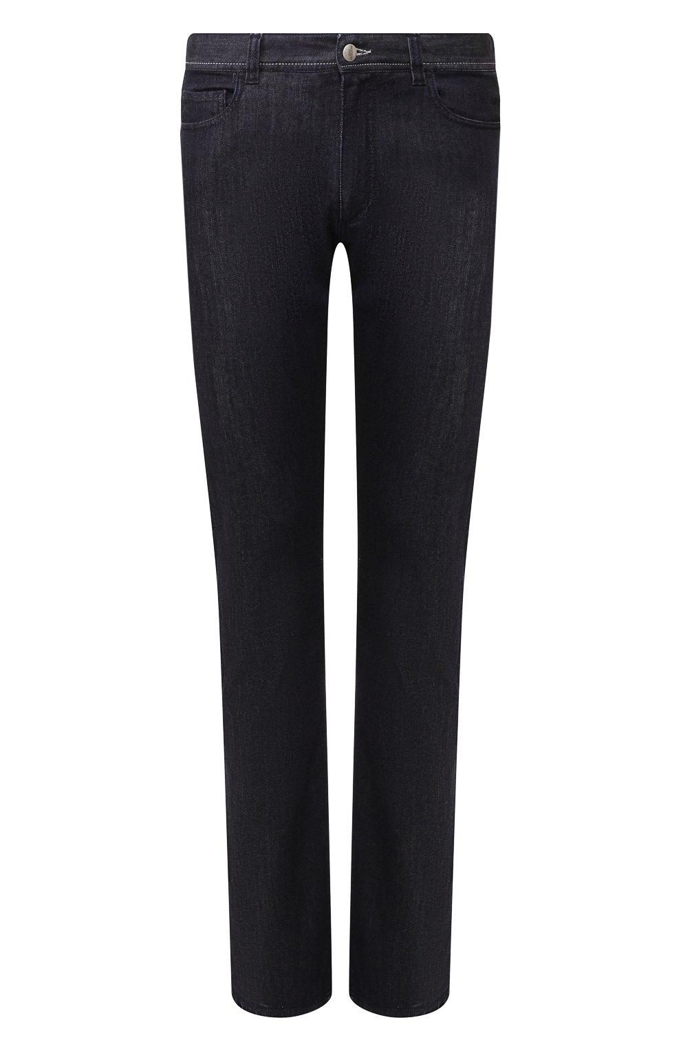 Мужские джинсы CANALI черного цвета, арт. 91770/PD00018 | Фото 1