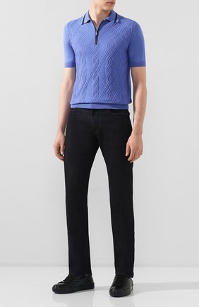 Мужские джинсы CANALI черного цвета, арт. 91770/PD00018 | Фото 2
