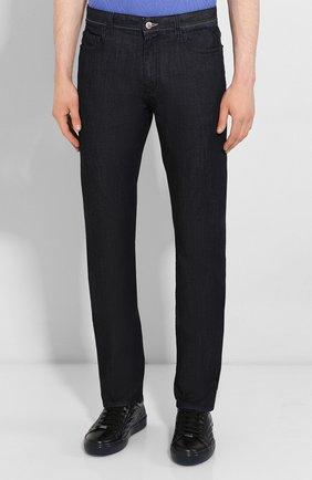 Мужские джинсы CANALI черного цвета, арт. 91770/PD00018 | Фото 3