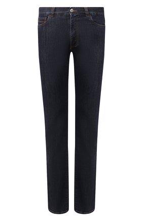 Мужские джинсы CANALI темно-синего цвета, арт. 91717/PD00018 | Фото 1