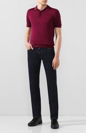 Мужские джинсы CANALI темно-синего цвета, арт. 91717/PD00018 | Фото 2