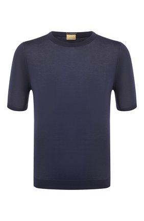 Мужской хлопковый джемпер SVEVO синего цвета, арт. 8224/0SE20/MP0002 | Фото 1