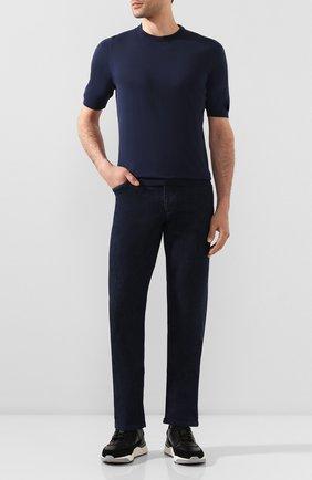 Мужской хлопковый джемпер SVEVO синего цвета, арт. 8224/0SE20/MP0002 | Фото 2