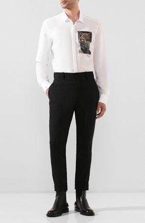 Мужской брюки NEIL BARRETT черного цвета, арт. PBPA488/P026 | Фото 2