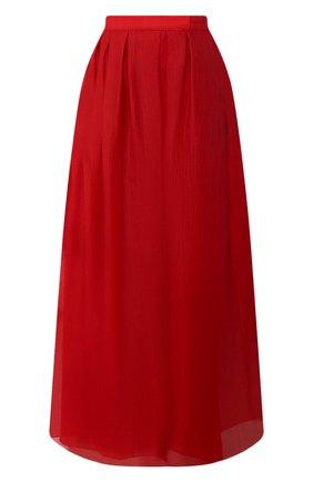 Женская юбка из шелка и хлопка GIORGIO ARMANI красного цвета, арт. 0SHNN03B/T01IB | Фото 1