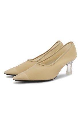 Женская текстильные туфли sock THE ROW бежевого цвета, арт. F1153-W20 | Фото 1