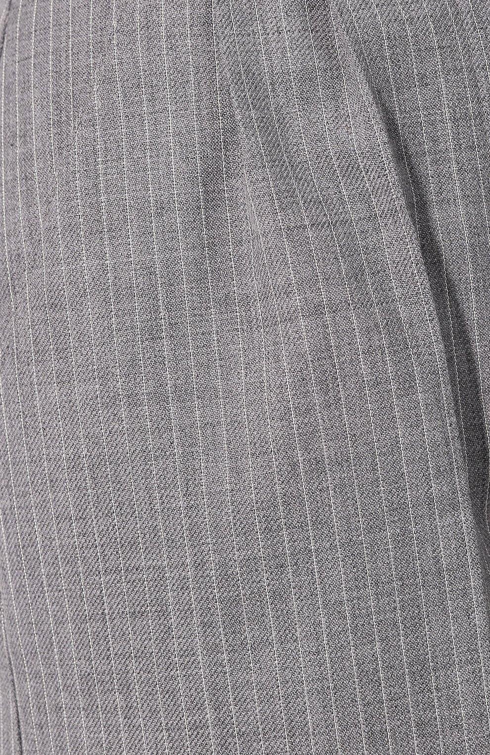 Женские шорты из шерсти и шелка LOEWE серого цвета, арт. S540331X75   Фото 5 (Женское Кросс-КТ: Шорты-одежда; Материал внешний: Шерсть; Длина Ж (юбки, платья, шорты): Мини; Стили: Минимализм, Кэжуэл)