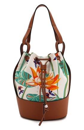 Женская сумка balloon medium loewe x paula's ibiza  LOEWE разноцветного цвета, арт. A710AC3X05   Фото 1