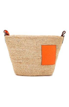 Женская сумка pochette loewe x paula's ibiza LOEWE оранжевого цвета, арт. A689W10X03   Фото 1