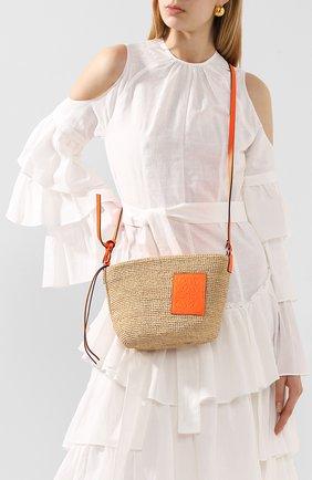 Женская сумка pochette loewe x paula's ibiza LOEWE оранжевого цвета, арт. A689W10X03   Фото 2