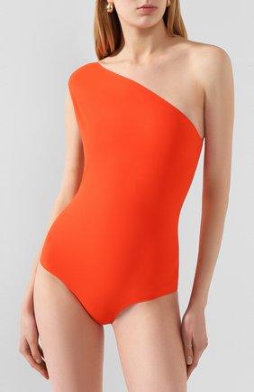 Женский слитный купальник BOTTEGA VENETA оранжевого цвета, арт. 625517/3V944 | Фото 2