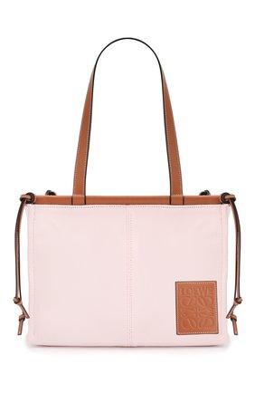 Женская сумка-тоут cushion loewe x paula's ibiza LOEWE светло-розового цвета, арт. 330.02AA93 | Фото 1