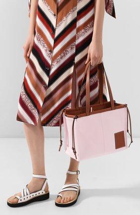 Женская сумка-тоут cushion loewe x paula's ibiza LOEWE светло-розового цвета, арт. 330.02AA93 | Фото 2