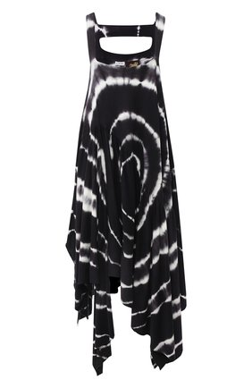 Женское хлопковое платье loewe x paula's ibiza LOEWE черно-белого цвета, арт. S616341X14 | Фото 1