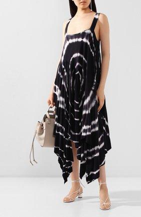 Женское хлопковое платье loewe x paula's ibiza LOEWE черно-белого цвета, арт. S616341X14 | Фото 2