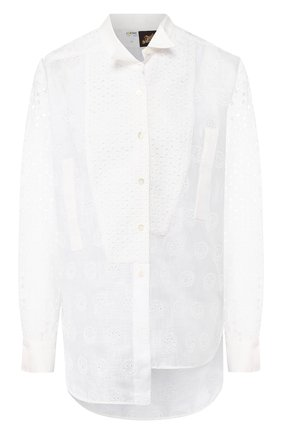 Женская хлопковая рубашка loewe x paula's ibiza LOEWE белого цвета, арт. S616337X09 | Фото 1
