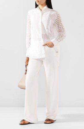 Женская хлопковая рубашка loewe x paula's ibiza LOEWE белого цвета, арт. S616337X09 | Фото 2