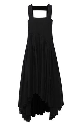 Женское платье из хлопка и льна loewe x paula's ibiza LOEWE черного цвета, арт. S616335X52 | Фото 1