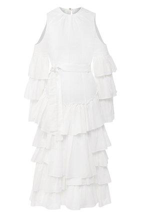Женское платье из хлопка и льна loewe x paula's ibiza LOEWE белого цвета, арт. S616335X09 | Фото 1