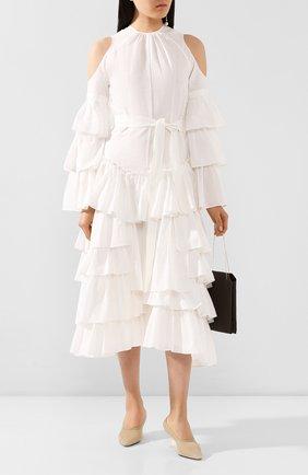 Женское платье из хлопка и льна loewe x paula's ibiza LOEWE белого цвета, арт. S616335X09 | Фото 2