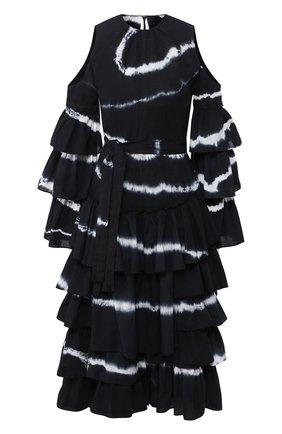 Женское хлопковое платье loewe x paula's ibiza LOEWE черно-белого цвета, арт. S616335X08 | Фото 1