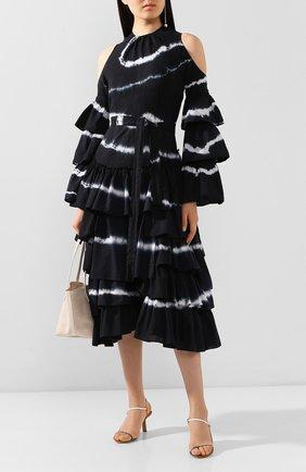 Женское хлопковое платье loewe x paula's ibiza LOEWE черно-белого цвета, арт. S616335X08 | Фото 2