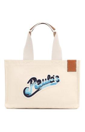 Женская сумка cabas loewe x paula's ibiza LOEWE кремвого цвета, арт. A716C68X02 | Фото 1