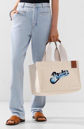 Женская сумка cabas loewe x paula's ibiza LOEWE кремвого цвета, арт. A716C68X02 | Фото 2