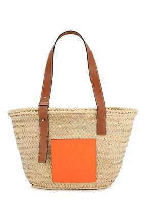 Женская сумка basket loewe x paula's ibiza LOEWE оранжевого цвета, арт. A223S92X01 | Фото 1