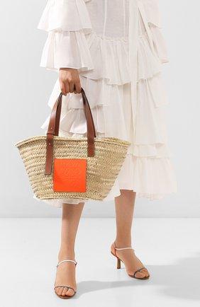 Женская сумка basket loewe x paula's ibiza LOEWE оранжевого цвета, арт. A223S92X01 | Фото 2