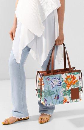 Женский сумка-тоут cushion loewe x paula's ibiza LOEWE голубого цвета, арт. 328.09AB90 | Фото 2