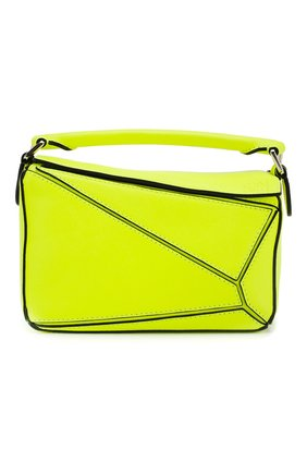 Женская сумка puzzle mini loewe x paula's ibiza LOEWE желтого цвета, арт. 322.35.U95 | Фото 1