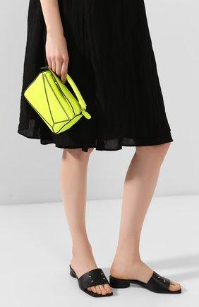 Женская сумка puzzle mini loewe x paula's ibiza LOEWE желтого цвета, арт. 322.35.U95 | Фото 2