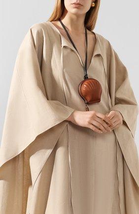 Женский клатч seashell loewe x paula's ibiza LOEWE коричневого цвета, арт. 111.10.161 | Фото 2
