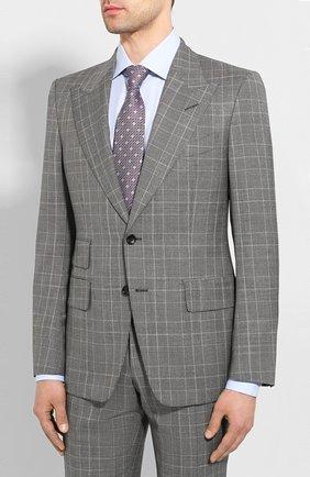 Мужской шерстяной костюм TOM FORD серого цвета, арт. 0R6401/21AL43 | Фото 2