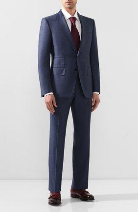 Мужской шерстяной костюм TOM FORD синего цвета, арт. 0R0025/21AL43 | Фото 1