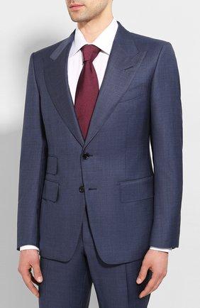 Мужской шерстяной костюм TOM FORD синего цвета, арт. 0R0025/21AL43 | Фото 2