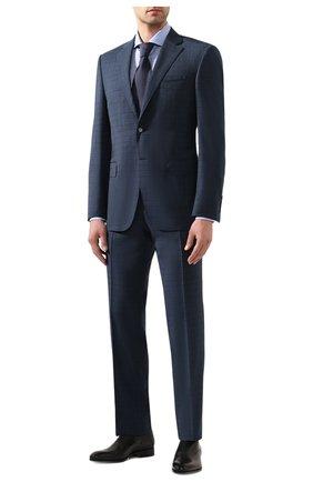 Мужская сорочка из хлопка и льна CORNELIANI синего цвета, арт. 85P002-0111616/00 | Фото 2