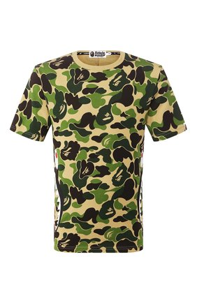 Мужская хлопковая футболка BAPE зеленого цвета, арт. 1G20109011 | Фото 1